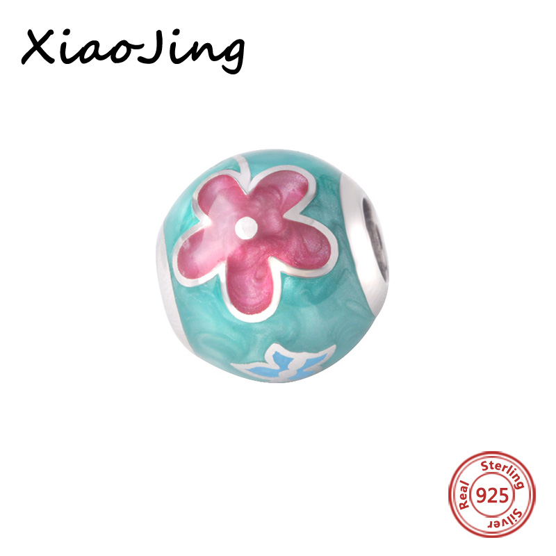 925 Sterling Silver Pendant Colour Enamel Charms Beads Fit Original Pandora Bracelets Charm DIY Jewelry making women Gift