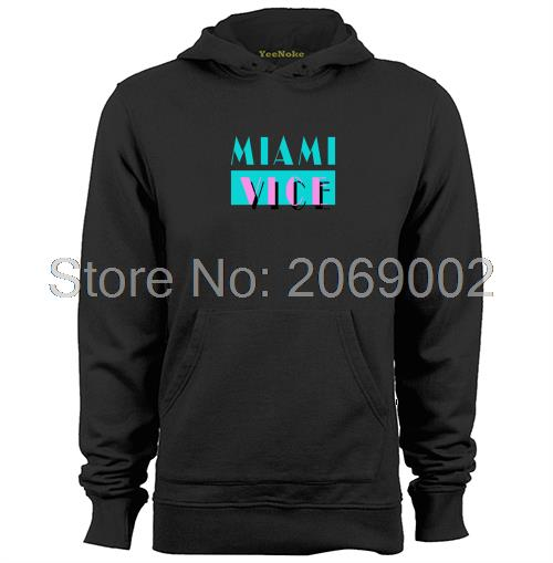 Lisanslı NBC Miami Vice Logosu Mens & Womens unisex Hoodies Coat