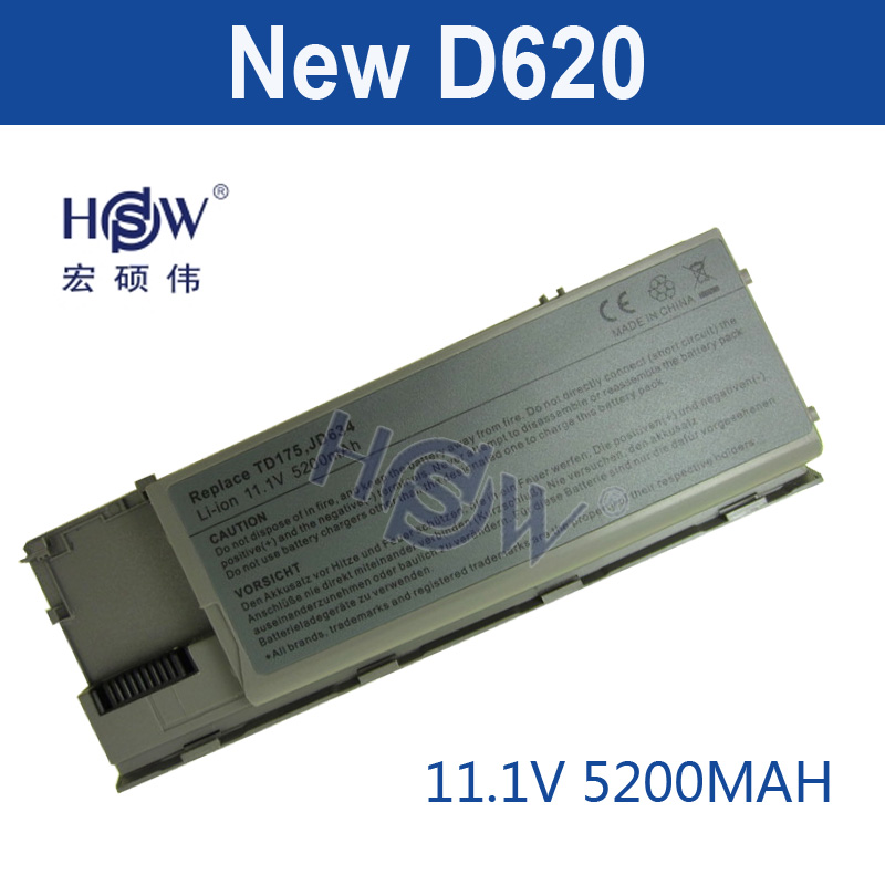 HSW 5200 MAH Dell Latitude D620 D630 Hassas M2300 Laptop Batarya 312-0383 312-0386 451-10297 451-10298 JD634 PC764 TC030
